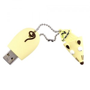 Pamięc USB 2.0 - 4GB TRACER Mouse Yellow