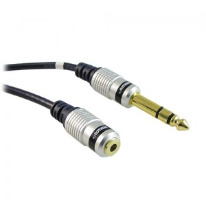 Kabel jack wtyk 3.5 stereo*wtyk 6.3 stereo 1.5m